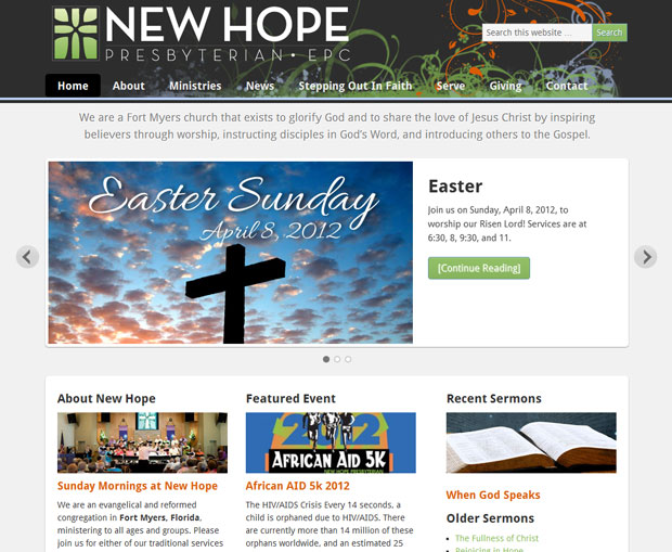 New Hope Church (web design)