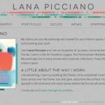 Lana Picciano, fine artist (web design)