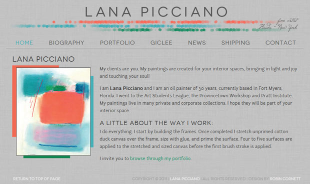 Lana Picciano, Fine Artist