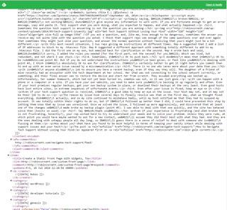 raw RSS feed data