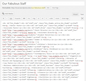 Staff Page Created by Hand