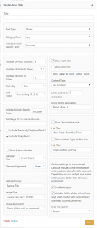 Six/Ten Press Featured Content Slick Add-on settings